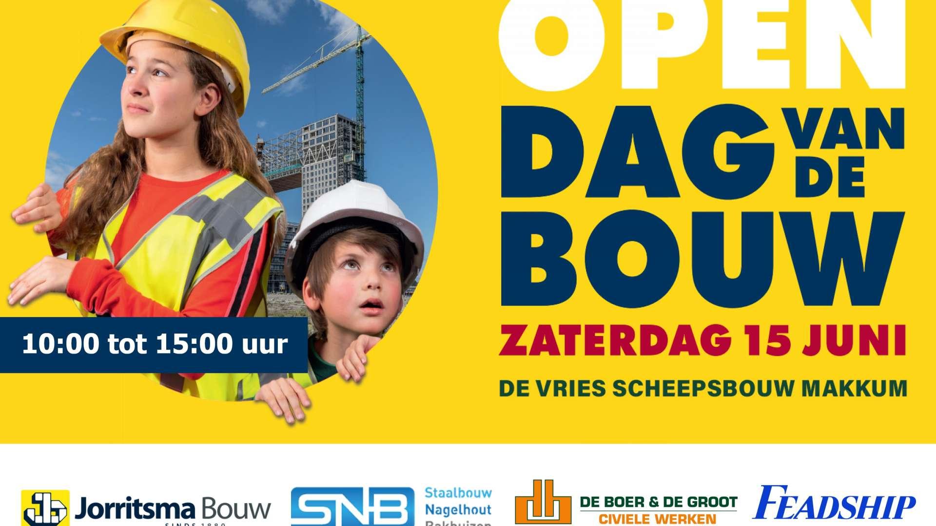 Open Dag van de Bouw op 15 juni in Makkum